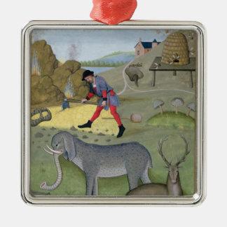 Illustratie van het 'Boek van Eenvoudig Zilverkleurig Vierkant Ornament