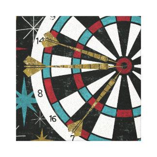 Illustratief Dartboard Canvas Afdruk
