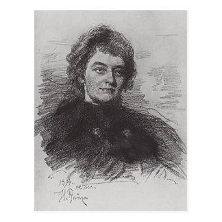Ilya Repin: Portret van Zinaida Nikolayevna Briefkaart