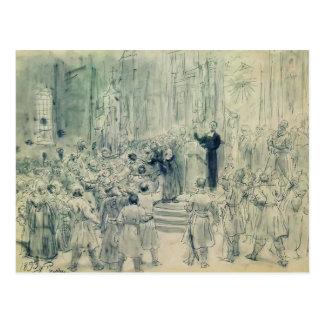 Ilya Repin: Preek van Josaphat Kuntsevich, Briefkaart