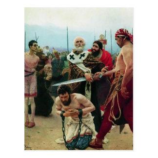 Ilya Repin- St. Nicholas Saves Drie Innocents Briefkaart