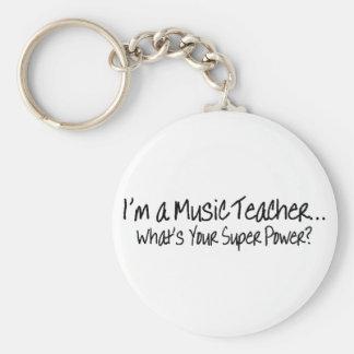 Im een Leraar van de Muziek wat Uw Super Macht is Sleutelhanger