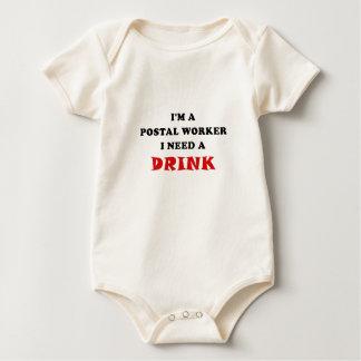 Im een PostArbeider I Behoefte een Drank Baby Shirt