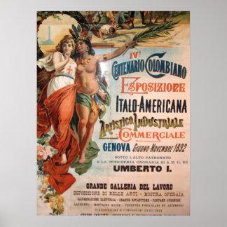 Immagine DA Genua, Italië. 1892 Poster