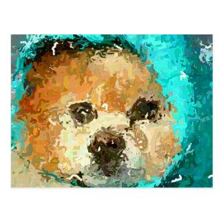 Impressionistic Regenjas Pom Briefkaart