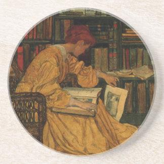 In de Bibliotheek Zandsteen Onderzetter
