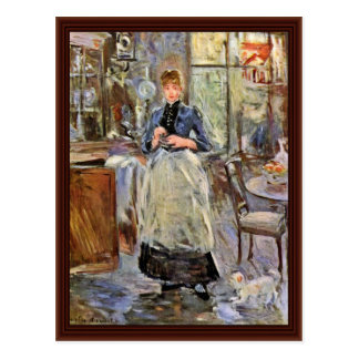 In de Eetkamer door Morisot Berthe Briefkaart