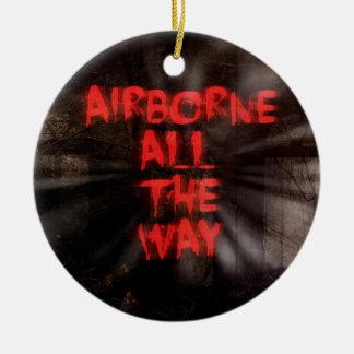 In de lucht Al Manier! Rond Keramisch Ornament