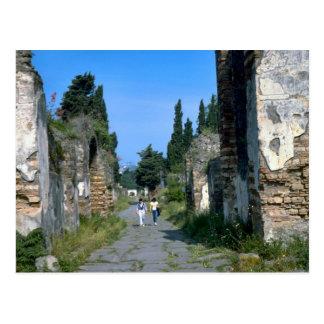 In de straten van Pompei Briefkaart