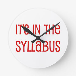 in de syllabus ronde klok