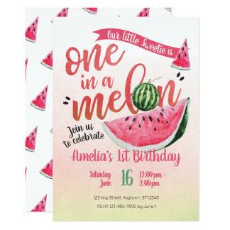 in een Eerste Verjaardag van de Watermeloen van de Kaart