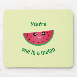 in een Grappige Leuke Watermeloen Kawaii van de Muismatten