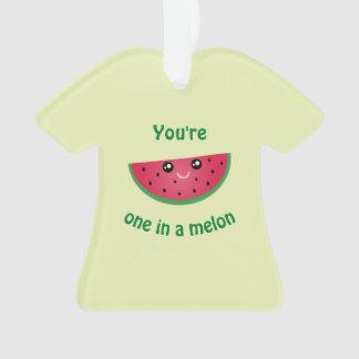 in een Grappige Leuke Watermeloen Kawaii van de Ornament