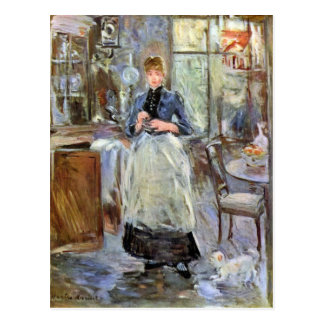 In Eetkamer door Berthe Morisot Briefkaart