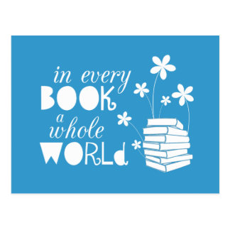 In Elk Boek een Gehele Wereld Briefkaart