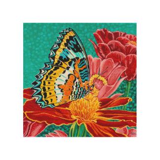 In evenwicht gehouden Vlinder I Hout Afdruk