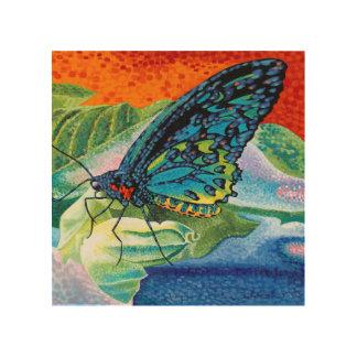 In evenwicht gehouden Vlinder II Hout Afdruk