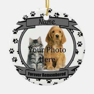 In Geheugen van Uw voor altijd Herinnerde Hond Rond Keramisch Ornament