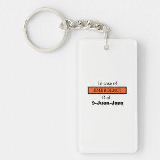 In geval van nood Wijzerplaat 9-Juan Sleutelhanger