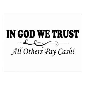 In God die wij hebben vertrouwd op, betalen Al Briefkaart