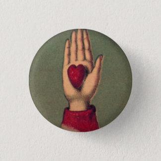 in Hand 1 Duim van het hart om Knoop Ronde Button 3,2 Cm