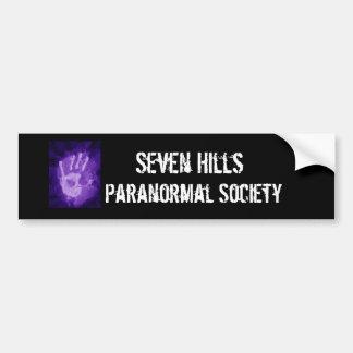 in het bijzonder, Zeven Heuvels, de Paranormale Ma Bumpersticker