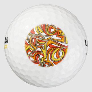In het Bush-Hand Geschilderde Abstracte Art. Golfballen