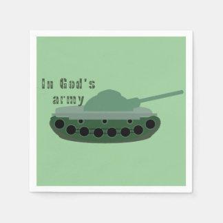 in het leger van de God (tank) Papieren Servet