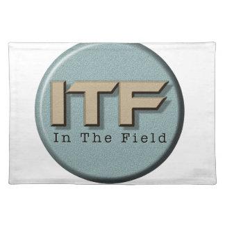 In het logo van The Field Placemat