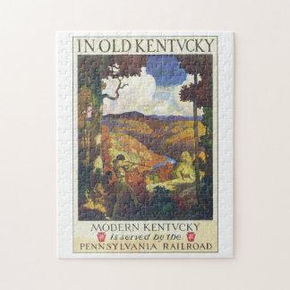 In het Oude Kunstwerk van het Poster van de Reis Legpuzzel