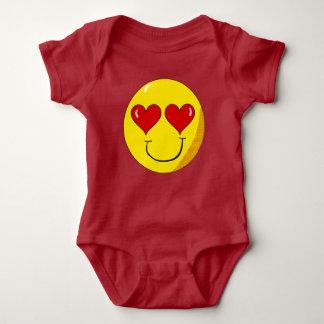 In het overhemd van het Baby van Smiley van de Romper