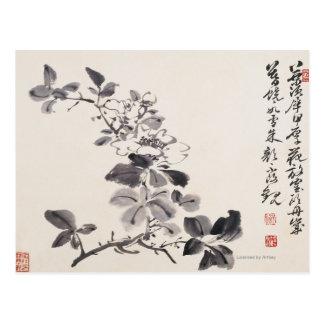 In Imitatie van de Bloemen van Xu Wei No.5 Briefkaart