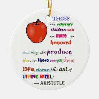 In Lof van Leraren Rond Keramisch Ornament