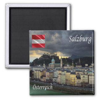 IN - Oostenrijk - Salzburg Vierkante Magneet
