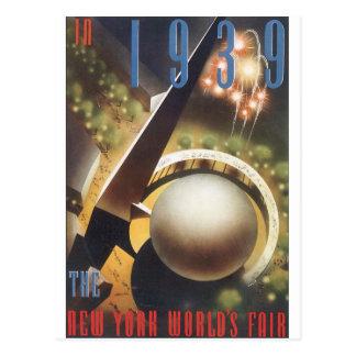 In Reis Pos van de Wereld van New York van 1939 de Briefkaart