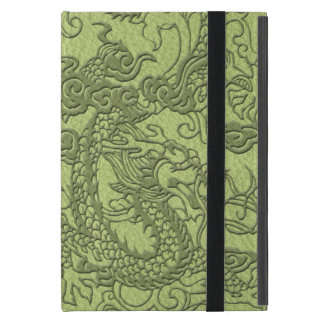 In reliëf gemaakte Draak op de Textuur van het iPad Mini Hoesje