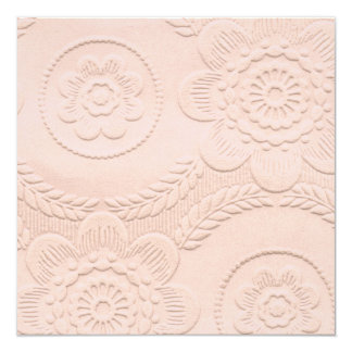 In reliëf gemaakte het roze kijkt de Uitnodiging