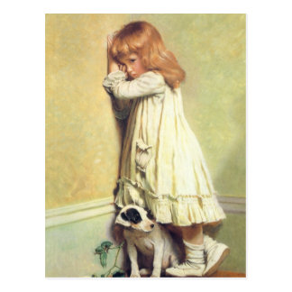 In Schande door Charles Burton Barber Briefkaart