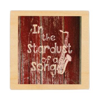 In Stardust van een Lied - Rustiek houten-Gevolg Houten Onderzetter