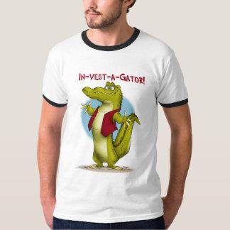 in-vest-a-gator! t shirt