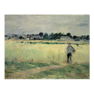 In Wheatfield in Gennevilliers, 1875 Briefkaart