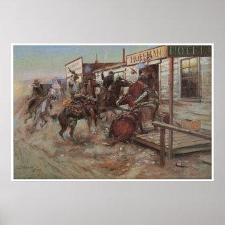 In zonder het Kloppen, 1909 Poster