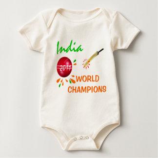India 2011 ICC Klimplant van Champs van de Kop van Baby Shirt