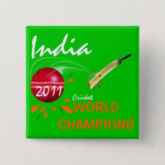 India 2011 ICC Knoop van de Kampioenen van de Kop Vierkante Button 5,1 Cm