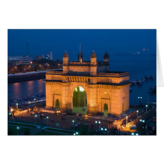 INDIA, Mumbai (Bombay): Gateway van India/ Kaart