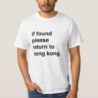 indien gelieve te gevonden terugkeer naar Hongkong T Shirt