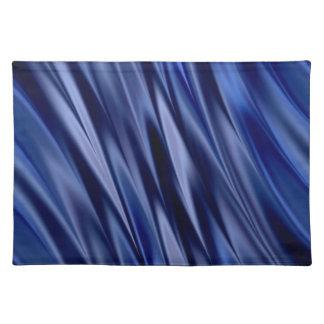 Indigo & de violette blauwe strepen van de satijns placemat