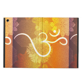 Indisch ornamentpatroon met ohmsymbool iPad air hoesje