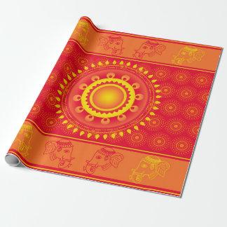 Indisch patroon inpakpapier