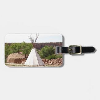 Indisch tipi, pioniersdorp, Utah Kofferlabels